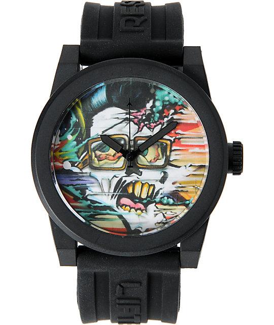 LRG Icon Elvis Art Series Black Analog Watch