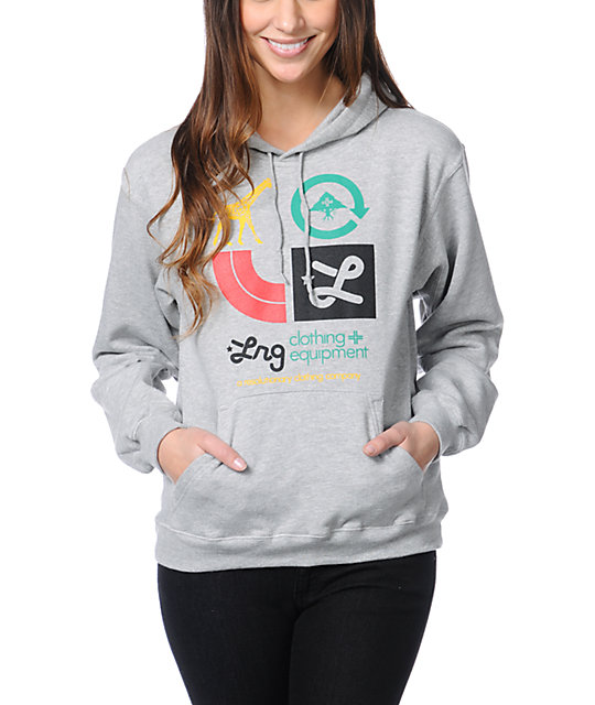LRG Icons Heather Grey Pullover Hoodie