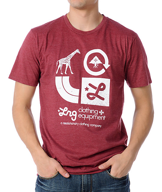 LRG Icons Heather Red T-Shirt