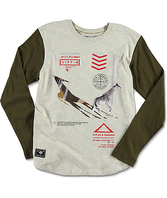 LRG Infantree Raglan Natural Heather Grey Boys T-Shirt