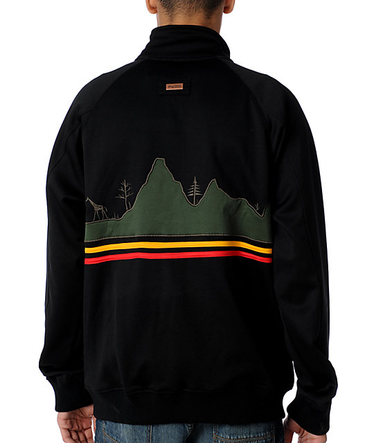 LRG Jah Lion Black Rasta Track Jacket