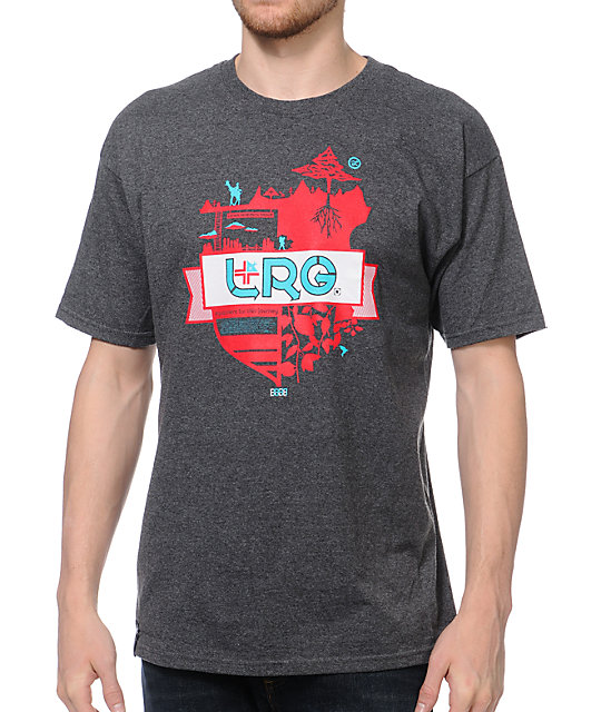 LRG Journey Thru Life Charcoal T-Shirt
