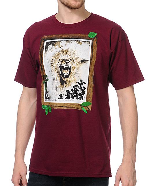 LRG Jungle King Burgundy T-Shirt