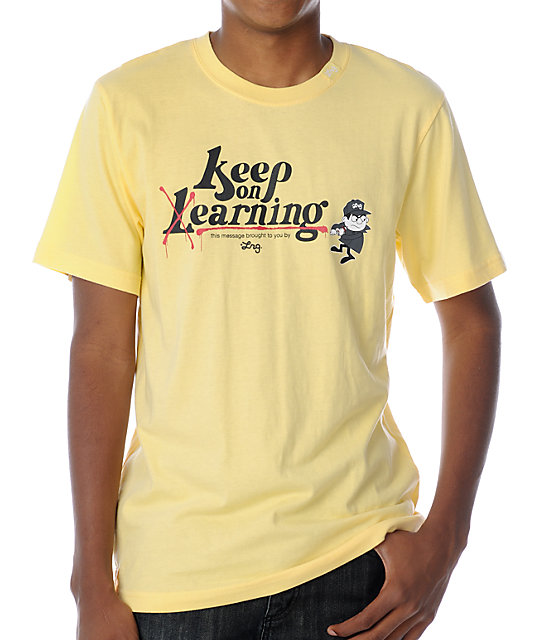 LRG Keep Earning Yellow T-Shirt