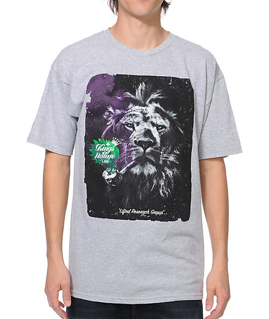 LRG Kings Of Nature Heather Grey T-Shirt