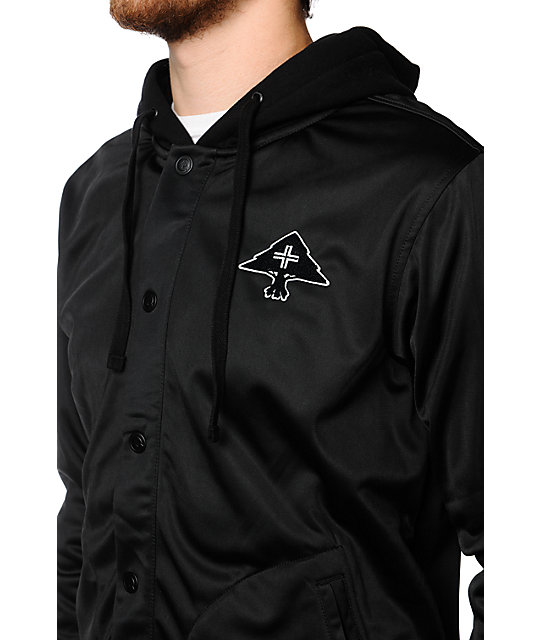 LRG LR-Connect Black Hooded Track Jacket