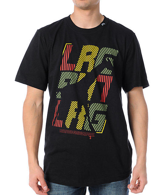 LRG Large In Charge Black Rasta T-Shirt