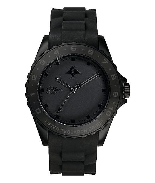 LRG Latitude Black Analog Watch