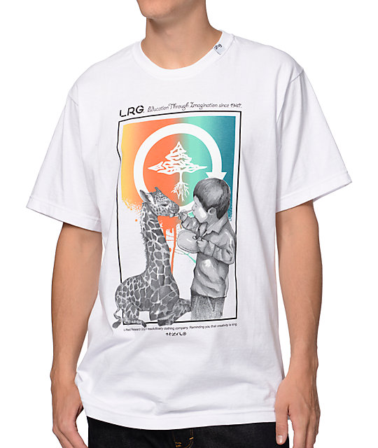 LRG Life Strokes White T-Shirt