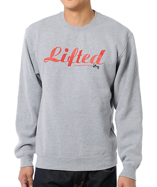 LRG Lifted Heather Grey Crew Neck Sweatshirt