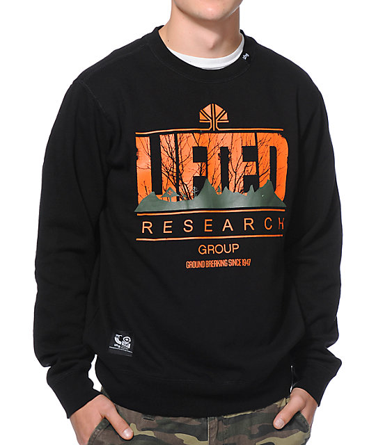 LRG Lifted Motherland Black Crewneck Sweatshirt