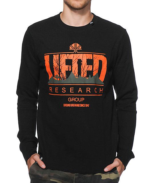 LRG Lifted Motherland Black Long Sleeve Thermal Shirt