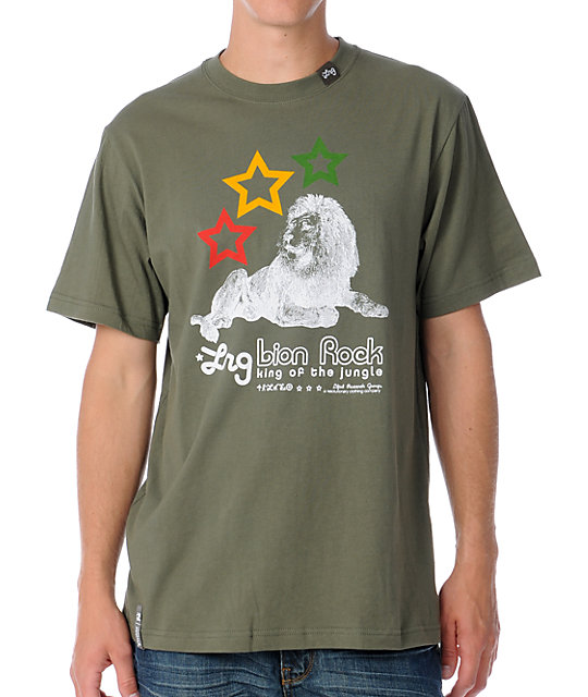 LRG Lion Rock Olive Drab T-Shirt