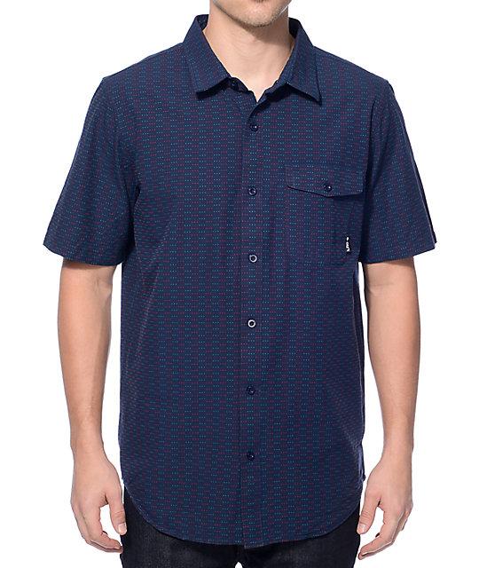 Lrg Luxton Navy Button Up Shirt