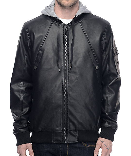 LRG Mastermind Black & Athletic Grey Bomber Jacket at Zumiez : PDP