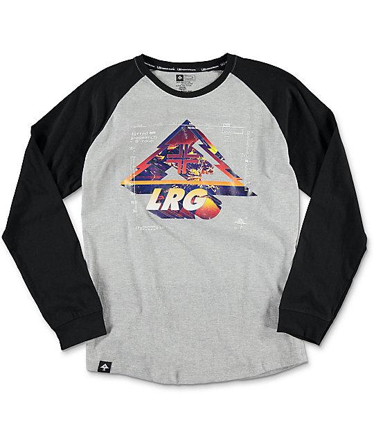 LRG Mighty Vision Ash Heather Grey Raglan Boys T-Shirt