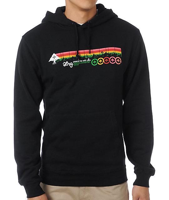 LRG Motherland Stripe Black Pullover Hoodie