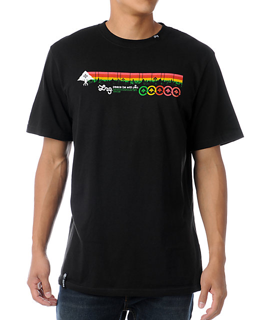 LRG Motherland Stripe Black T-Shirt