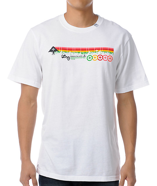 LRG Motherland Stripe White T-Shirt