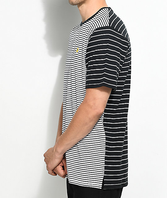 LRG Nevermind Striped Black & White T-Shirt