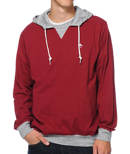 LRG New Age Dons Maroon Pullover Hoodie
