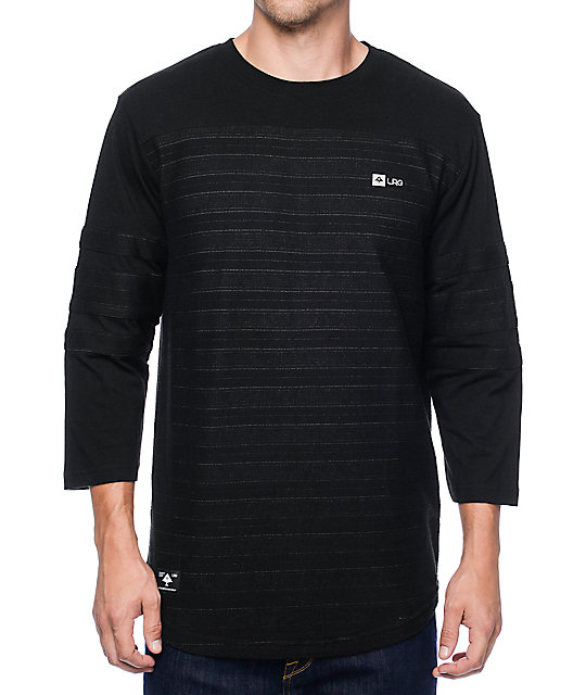 LRG Nightfall Black Baseball T-Shirt