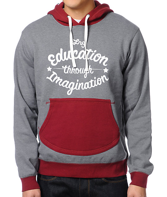 LRG No School Charcoal Pullover Hoodie