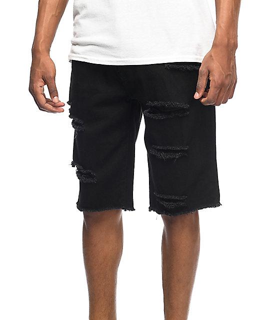 LRG On Deck Bull shorts rotos de mezclilla negra