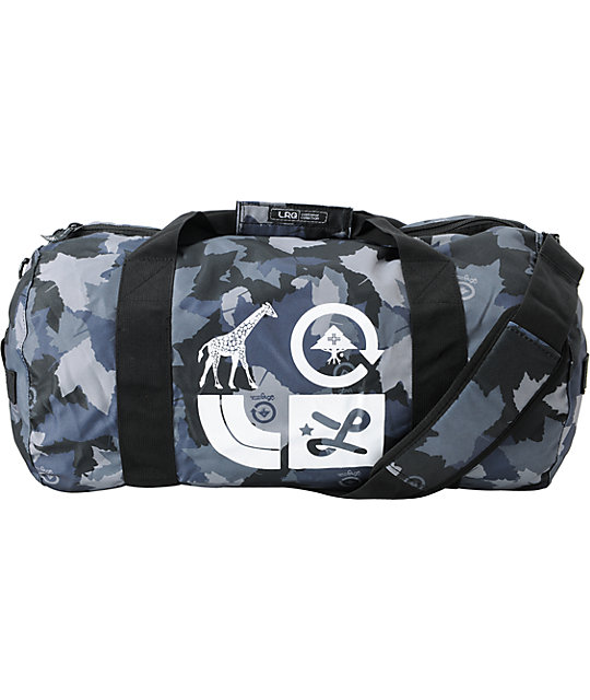 LRG One Night Stand Grey Camo Duffel Bag