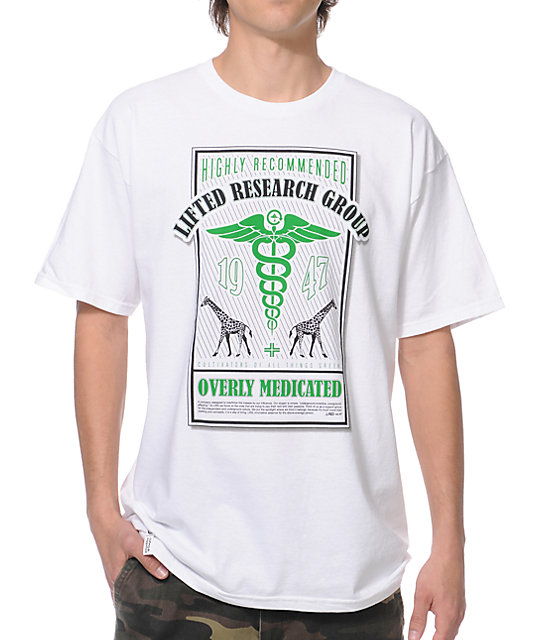 LRG Overly Medicated White T-Shirt