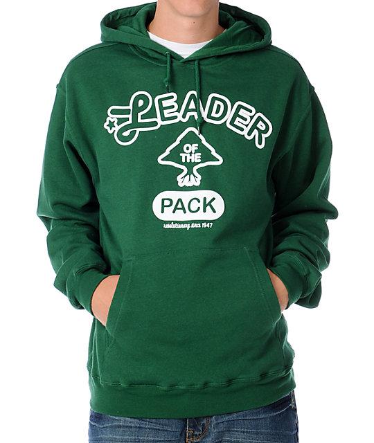 LRG Packleader Mens Forest Green Pullover Hoodie