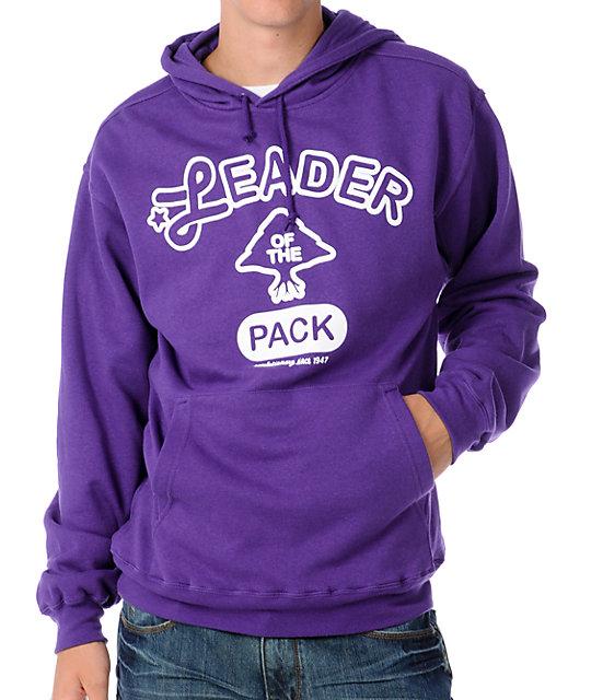 Packleader Mens Purple Pullover Hoodie
