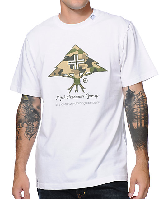 LRG Panda Camo White Knit T-Shirt