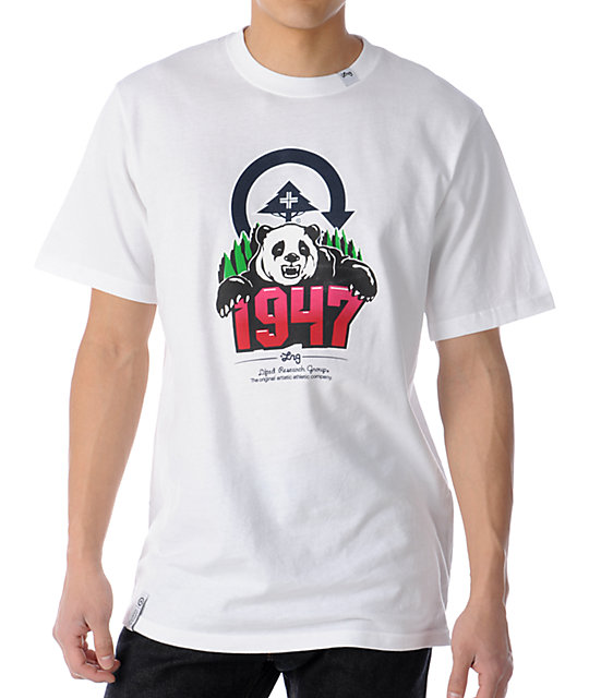 LRG Panda Climbing Years White T-Shirt