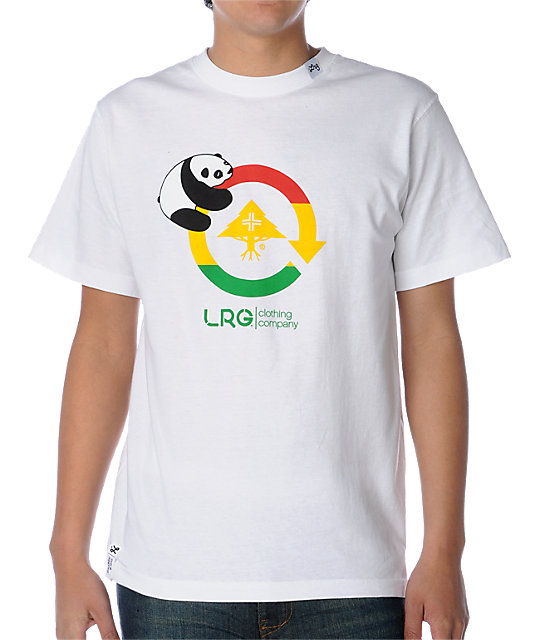 LRG Panda Cycle White Rasta T-Shirt