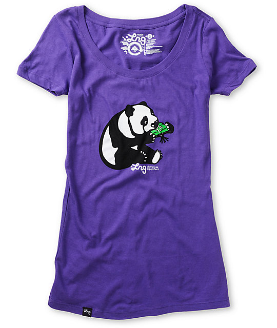LRG Panda Purple T-Shirt