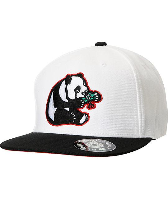 LRG Panda White Snapback Hat
