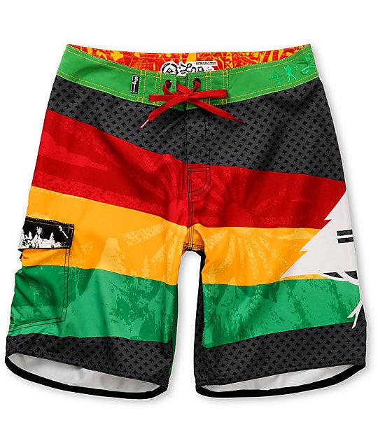 LRG Paylay Rasta Board Shorts