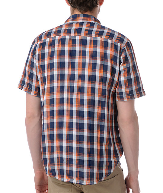 LRG Peace To The Gauze Plaid Button Up Shirt
