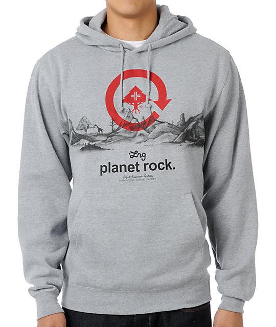 LRG Planet Rock Grey Pullover Hoodie