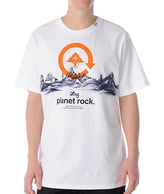 LRG Planet Rock White T-Shirt