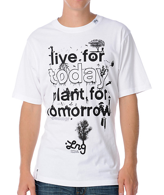 LRG Plant For Today Mens White T-Shirt