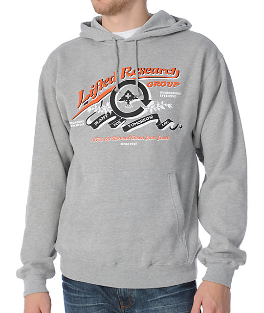 LRG Plant For Tomorrow Grey Pullover Hoodie
