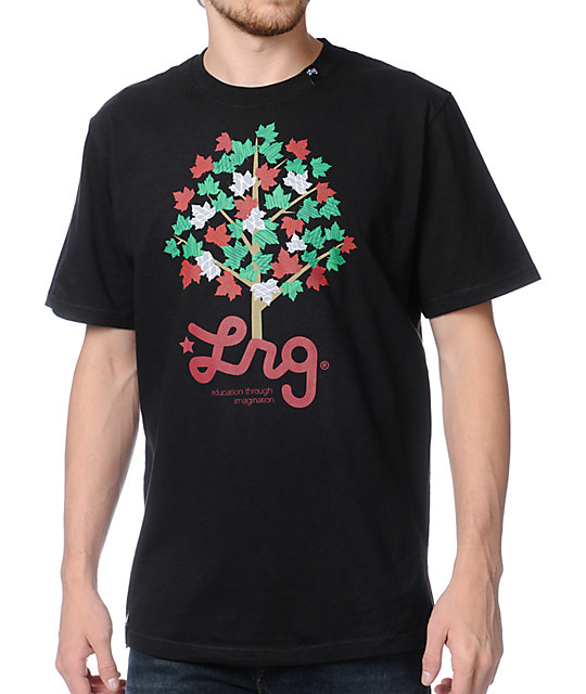 LRG Playful Maple Black T-Shirt