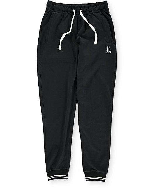 LRG Premier Division Black Jogger Pants