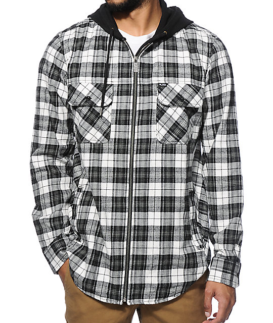 LRG RC Hooded Flannel Shirt
