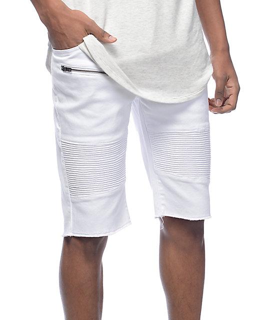 LRG Rally White Moto Shorts