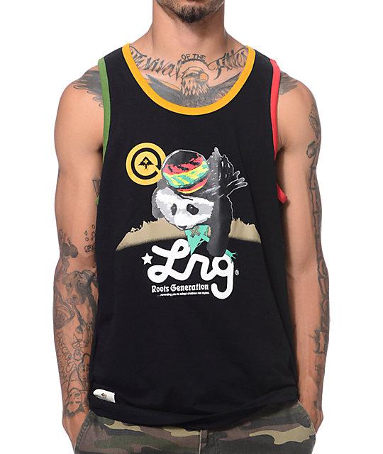 LRG Rasta Panda Black Tank Top