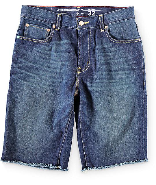 LRG Raw Edge Denim Shorts