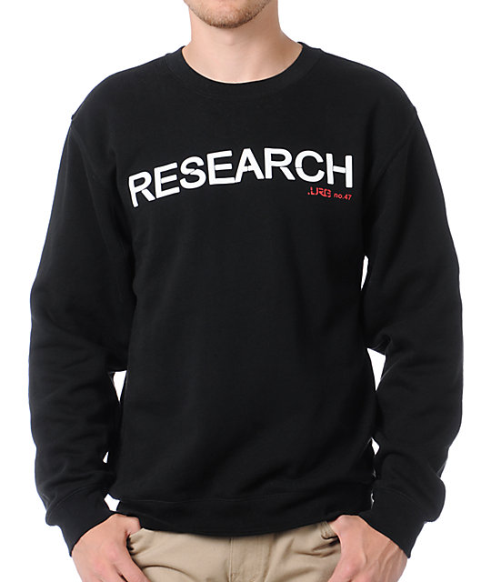 LRG Research Black Crew Neck Sweatshirt